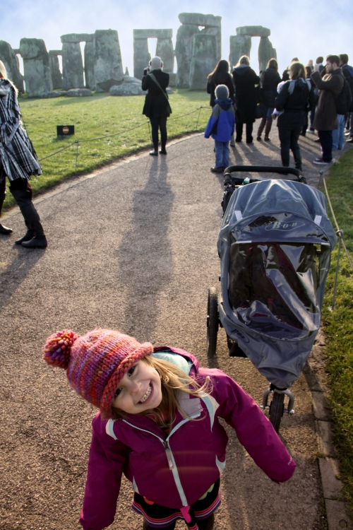 FInley on ring path at Stonehenge