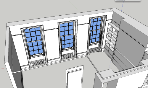 An image of the 3D Model I am making of the Flat.