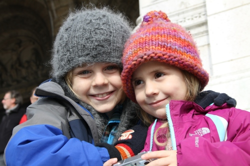 Finley & Eli On The Steps At Sacré-Coeur