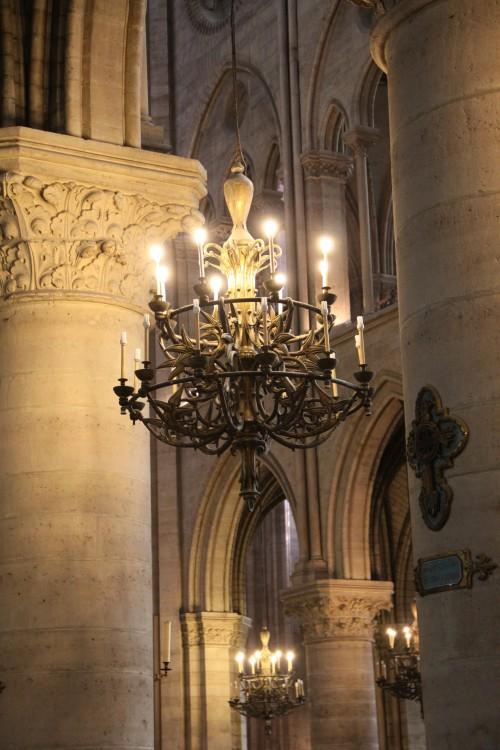 Tristan's Chandelier at Notre Dame