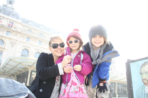 Some of the family outside Musée d'Orsay