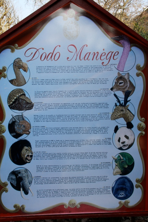 The List Of Crazy Animals On The Carousel Outside Galerie d'Anatomie Comparée