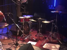 This was the drummer's set up...