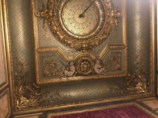 A ceiling in Napoleon's Apartments at the Louvre.